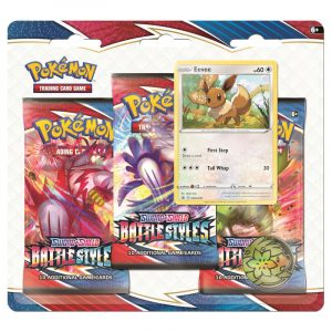 Pokemon TCG: Battle Styles - 3-pack Blister - Karta Promocyjna Eevee