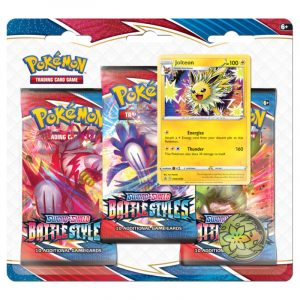 Pokemon TCG: Battle Styles - 3-pack Blister - Karta Promocyjna Jolteon