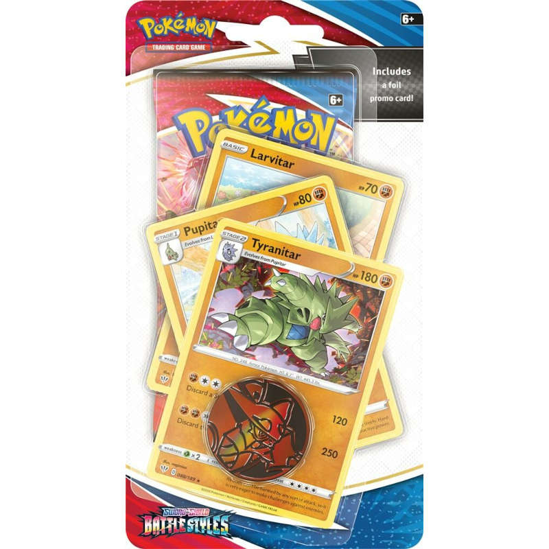 Pokemon TCG: Battle Styles - Premium Checklane Blister - Larvitar - Pupitar - Tyranitar